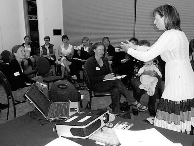Members attending a workshop in 2008