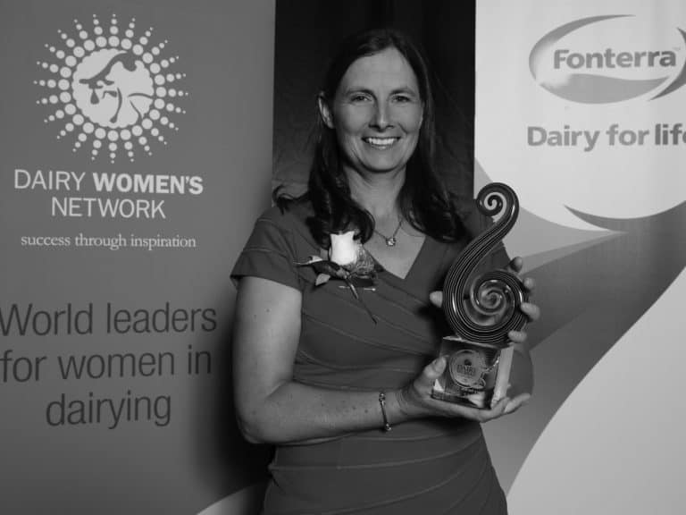 Katie Milne, 2015 Fonterra Dairy Woman of the Year Recipient